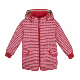 finkid – Winterjacke & Skijacke – ELLA SOFT – pebbles rose/persian red