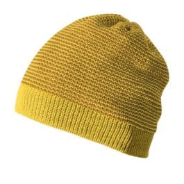 DISANA – Beanie – Strickmütze – curry/gold (50-54 cm)