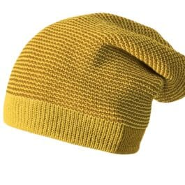 DISANA – Longbeanie – Strickmütze – curry/gold (50-54 cm)