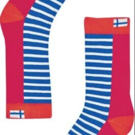 finkid – Ringelsocken – SUKAT –  red/grenadine