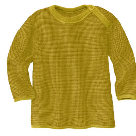 DISANA – Melange-Pullover – curry-gold