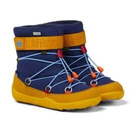 Affenzahn – wasserfeste Schneestiefel – Tukan (blau/gelb)