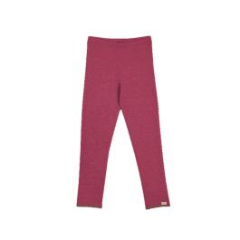 finkid – Leggings Wolljersey – LEIKKI WOOL – beet red/cocoa (rot)